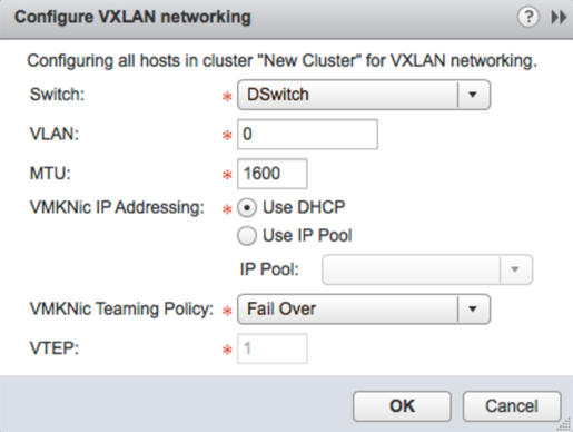 Configure VXLAN networking