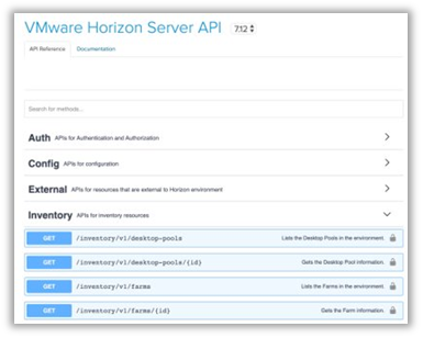VMware Horizon Server API