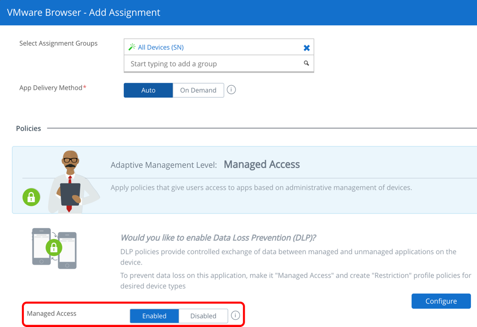 AirWatch Application Deployment for Adaptive Management