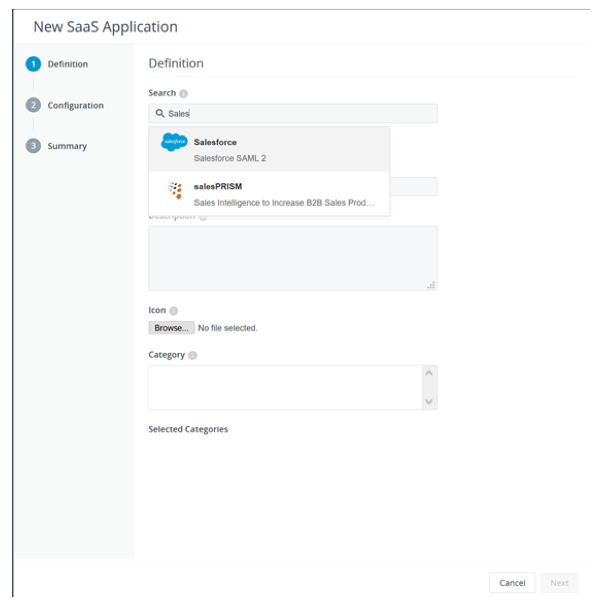 Add a New Application from the Cloud Application Catalog