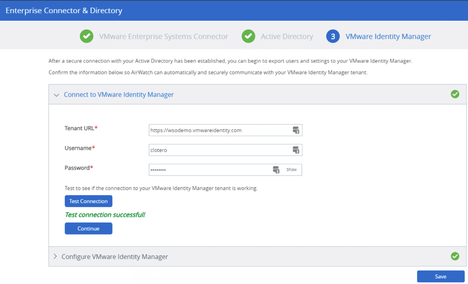 VMware Identity Manager Configuration