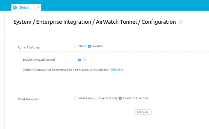 VMware Tunnel Configuration