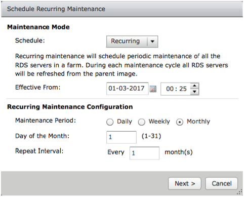 Recurring Maintenance Schedule