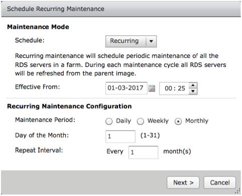 Recurring Maintenance Schedule