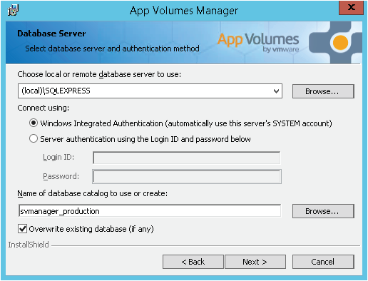 App volumes manager