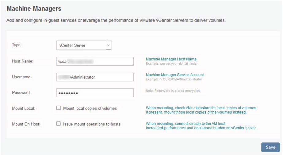 Configure machine managers on App Volumes