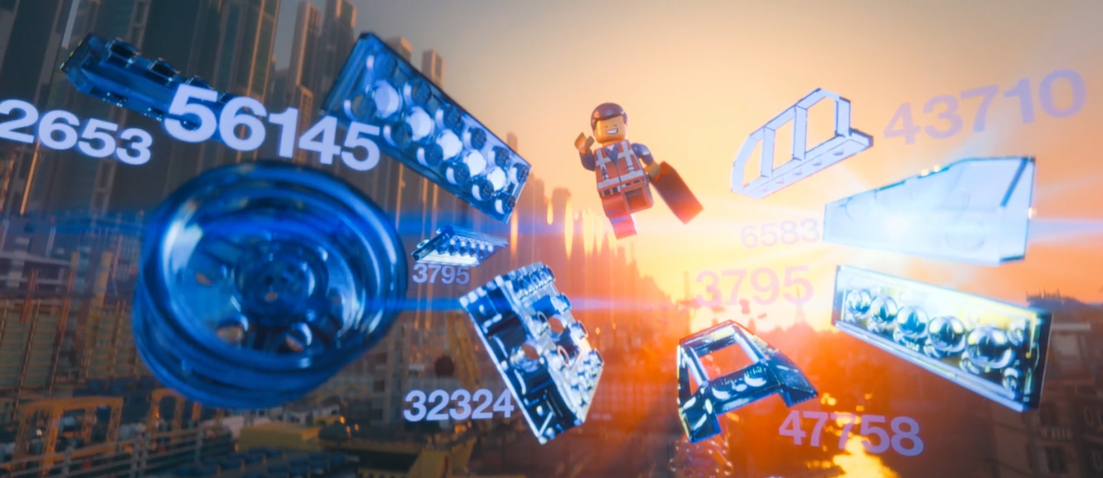 Emmet in the LEGO Movie becoming a master builder