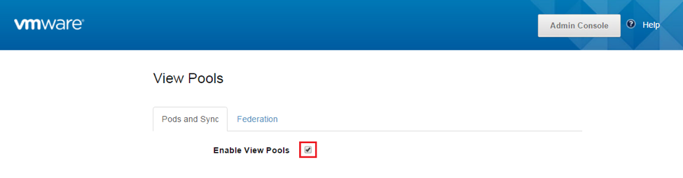 Enable View Pools