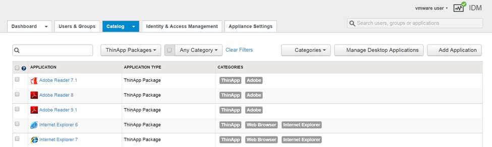 Verify That the ThinApp Packages Are Available