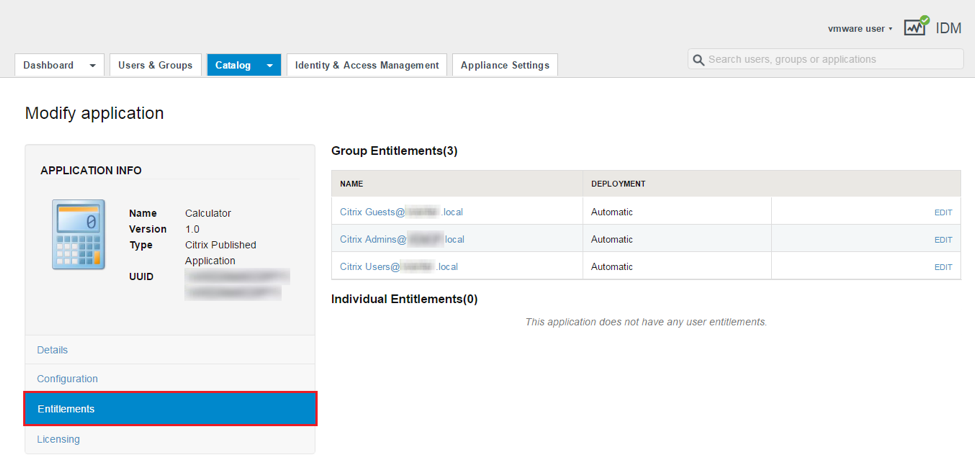 View Groups and Users Entitled to a Citrix Published Application