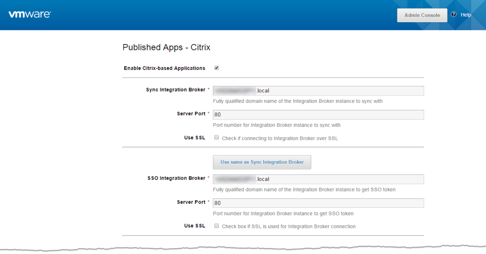 Configure Citrix-Based Applications