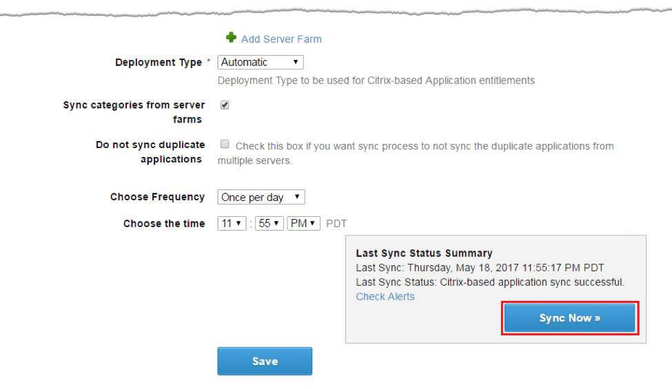 Synchronize VMware Identity Manager to Citrix Server Farm