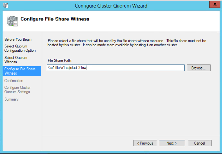 Configure File Share Witness
