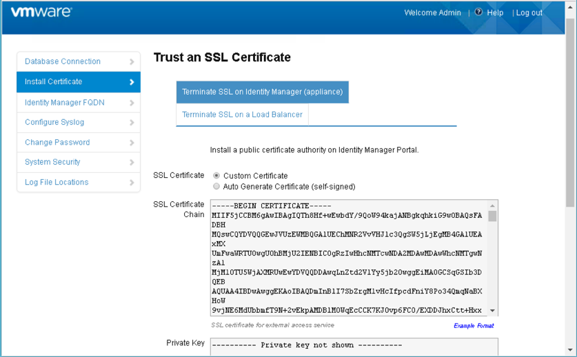 install and configure SSL certificate