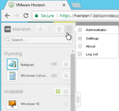 VMware Horizon Client software