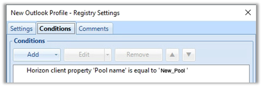 Screenshot New Outlook Profile – Registry Settings
