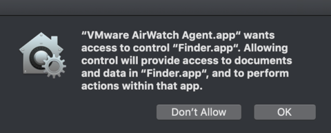 Apple macOS Mojave User Consent for Data Access Changes, and