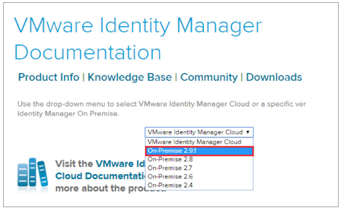 Accessing Documentation Online for On-Premises VMware Identity Manager