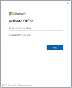 Microsoft Office Activation Windows