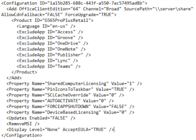 Example of configuration.xml
