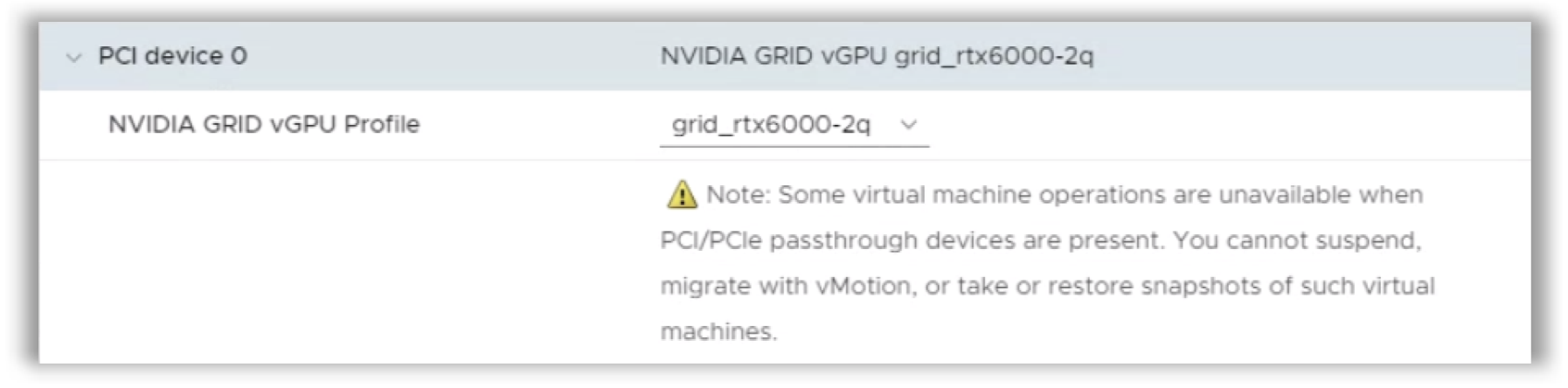 gpu graphics profile, nvidia grid vgpu profile, pci device