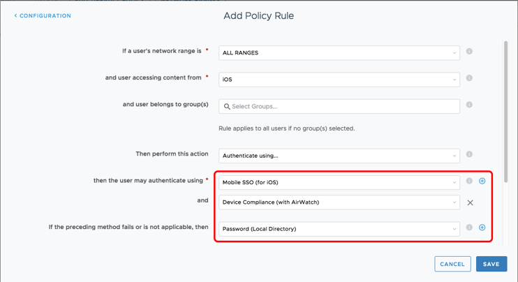 Device Compliance Policy in Workspace ONE