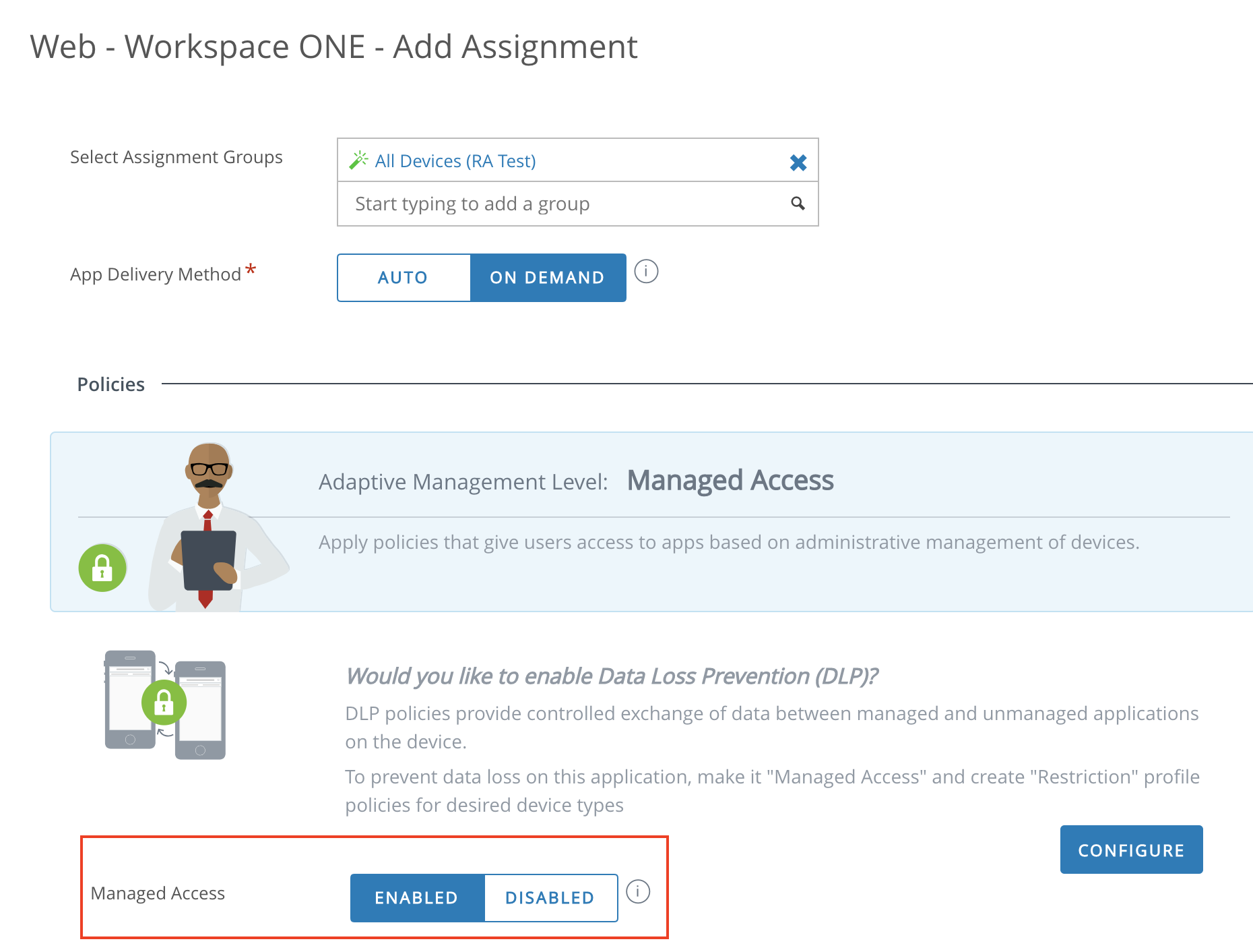 Workspace ONE Application Deployment for Adaptive Management