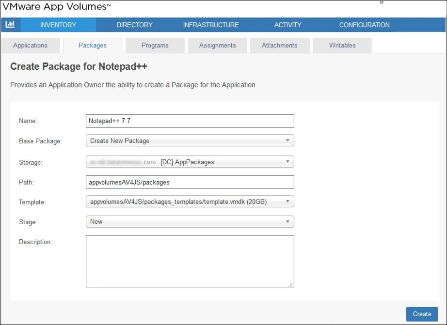 VMware App Volumes Create Package for Notepad++