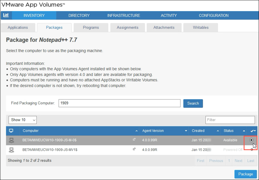 VMware App Volumes - Package for Notepad++ 7.7