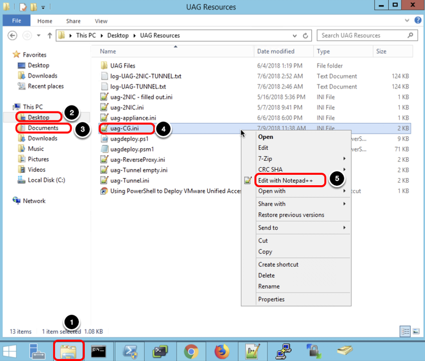 Configuring Edge Services in VMware Unified Access Gateway