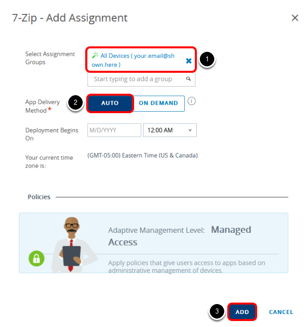 Add Assignment Group and Push Mode