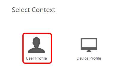 Select Context - User Profile