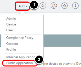 Add a New Public Application