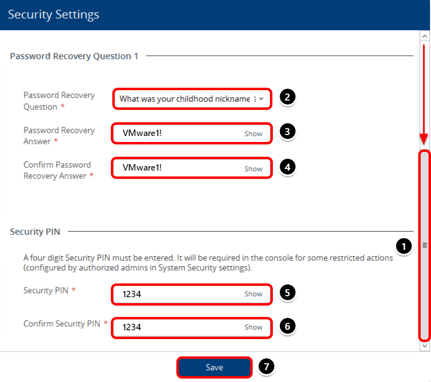 Address the Initial Security Settings